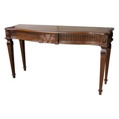 Lock stock and barrel Mahogany Carved Adam Console Table in Mahogany