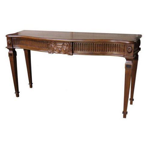 Lock stock and barrel Mahogany Carved Adam Console Table in Mahogany
