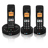 British Telecom 3510-TRI Black Cordless Triple Phone with Answering Machine & 5 Melodies