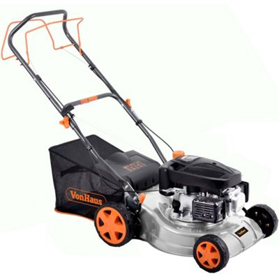 VonHaus Petrol Lawnmower With 5 Cutting Heights
