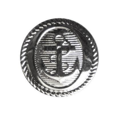 Hemline Silver Anchor Buttons 17.5mm 5pk