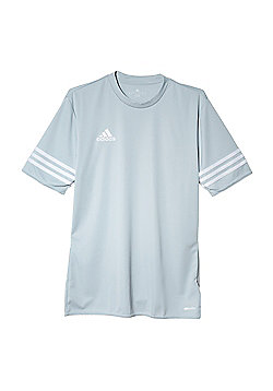 adidas Entrada 14 Short Sleeve Mens Football Training T-Shirt Silver - L