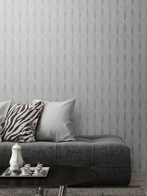 Solitaire Geometric Wallpaper Grey Muriva 801304