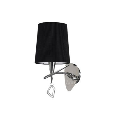 Mara Wall Lamp 1 Light Polished Chrome/Black Switched