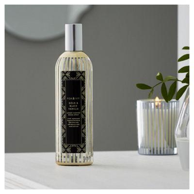 Fox & Ivy Gold & Black Vanilla Luxury Scented Room Spray