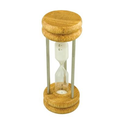 Faringdon Egg Timer 4Mins, wood and chrome