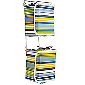 Stripe - Contemporary Wall Mounted Canvas 20 Dvd Blu-ray Storage Boxes