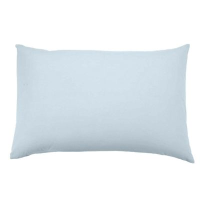 Homescapes Duck Egg Blue Organic Cotton Housewife Pillow Case 400 TC