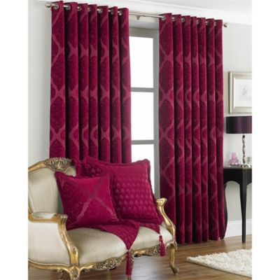 Riva Home Winchester Raspberry Eyelet Curtains - 66x72 Inches (168x183cm)