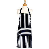 Rushbrookes Classic Butcher's Stripe Medium Apron, Navy