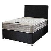 Happy Beds Bamboo Vitality 2000 Mattress Divan Bed Set Plain Headboard Black