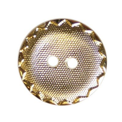 Hemline Crimp Edge Gold Buttons 15mm 7pk