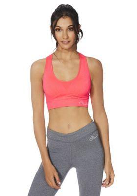 Dare2b Warm Up Medium Impact Sports Crop Top Neon Pink L