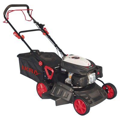 buy ikra red 223cc self-propelled lamborghini-engined petrol lawn