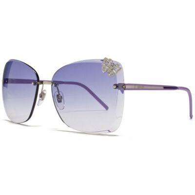 Gucci Sunglasses Rimless Butterfly in Silver with Gradient Purple Lens