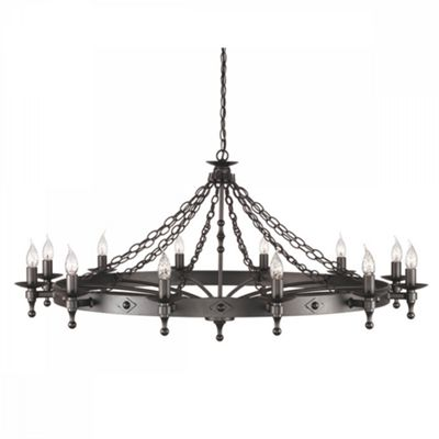 Graphite Black 12lt Chandelier Graphite - 12 x 60W E14