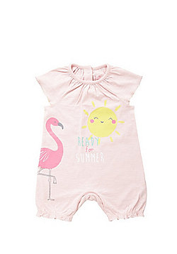 F&F Flamingo Summer Romper - Baby Pink
