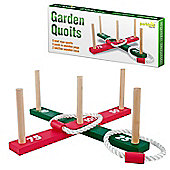 Parkland Wooden Garden Indoor Outdoor Quoits Family Pegs And Rope Hoopla Game