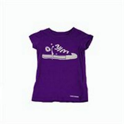 Girls Purple Converse All Star T Shirt 3-4 Years