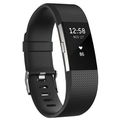Fitbit Charge 2 Black/Silver Small