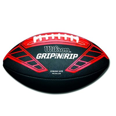 Wilson NFL Grip N Rip Junior American Football Ball Black/Red