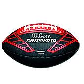 Wilson NFL Grip N Rip Junior American Football Ball Black/Red