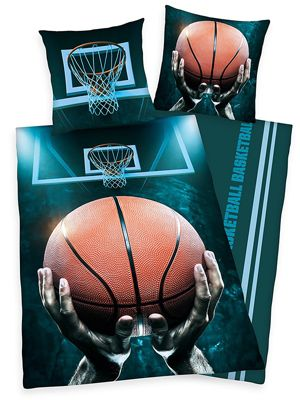 Basketball Single Duvet Cover And Pillowcase Set
