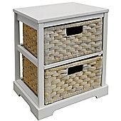 Miami - 2 Drawer Storage Cabinet - White / Whitewash
