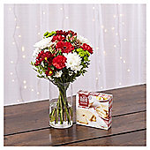 Bouquet of the Festive Season with Gerbera & Roses