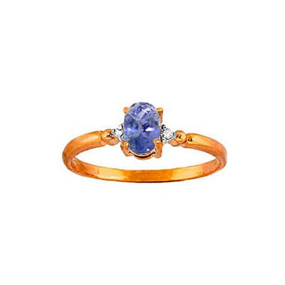 QP Jewellers Diamond & Tanzanite Allure Ring in 14K Rose Gold - Size R 1/2
