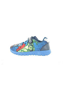Boys Marvel Avengers Blue Canvas Runner Trainer Childrens Shoes. Various UK Sizes - Blue