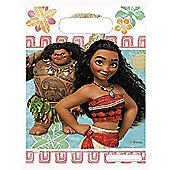 Moana Plastic Party Bags (pack of 6)