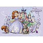 Disney Sofia The First Princess Lilac Wall Mural
