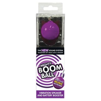 Mighty Boom Ball Vibrating Speaker with Battery Booster, Purple