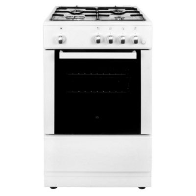 iQ 50cm Single Cavity Gas Cooker - White
