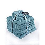 Dreamscene Luxury 100% Cotton 10 Piece Bathroom Towel Set - Aqua