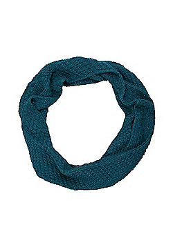 Mountain Warehouse Oslo Womens Snood Loose Knit Warm and Soft with Anti-pill - Blue