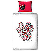 Minnie Mouse Icon Single Duvet Cover and Pillowcase Set