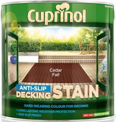 Cuprinol Anti Slip Decking Stain - Cedar Fall - 2.5 Litre