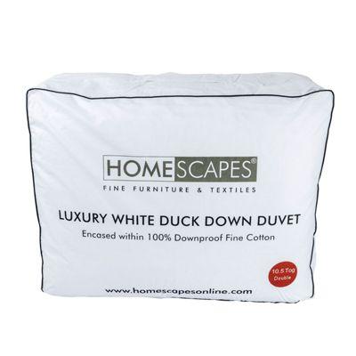 Luxury White Duck Down 10.5 Tog Double Size Autumn Duvet
