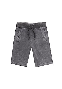 F&F Acid Wash Sweat Shorts - Grey