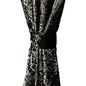 Ebony Crushed Velvet Curtain Tiebacks Only