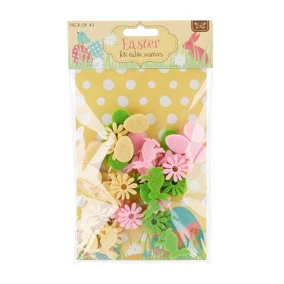 Pack Of Felt Easter Table Confetti