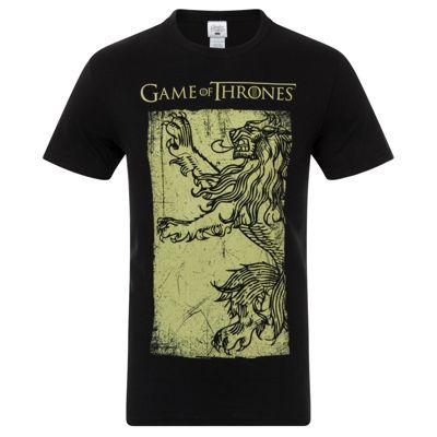 Game of Thrones Mens Lannister Gold Flag T-Shirt Medium