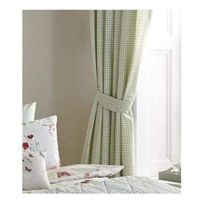 Dreams n Drapes Country Journal Green Lined Curtains - 66x72 Inches (168x183cm)