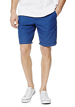 F&F Turn-Up Chino Shorts - Cobalt