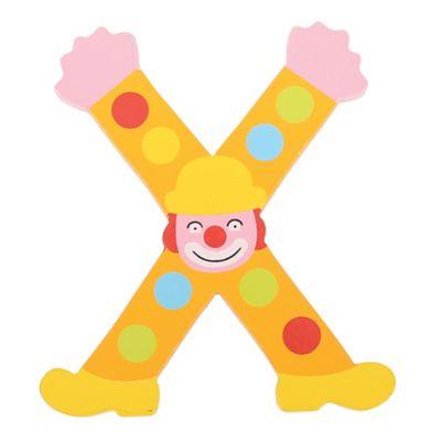 Tatiri Crazy Clown Letter X ((Orange) Spots)