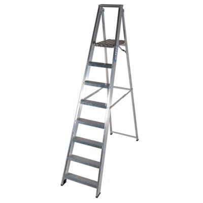 TB Davies Industrial Aluminium 8 Tread Platform Step Ladder