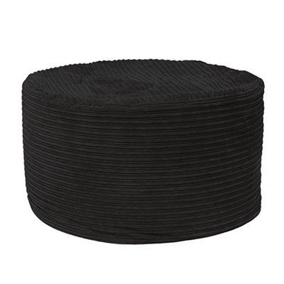 Black 'The Mammoth' Jumbo Cord Large Classic Bean Bag