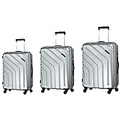 Carlton Stellar 4-Wheel Hard Shell Silver Cabin Case